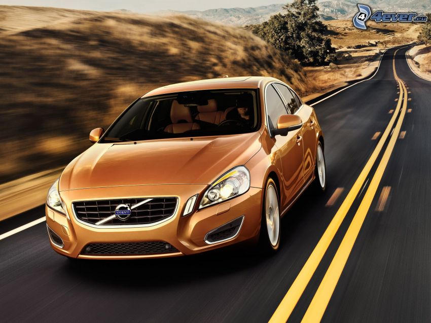 Volvo S60, road, speed