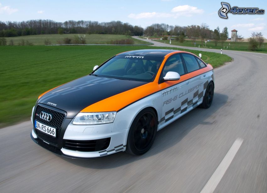 Audi RS6, road, speed