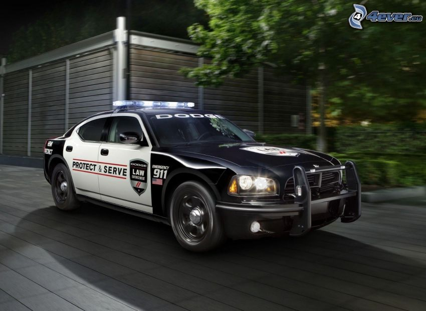 Dodge Charger, police car, speed