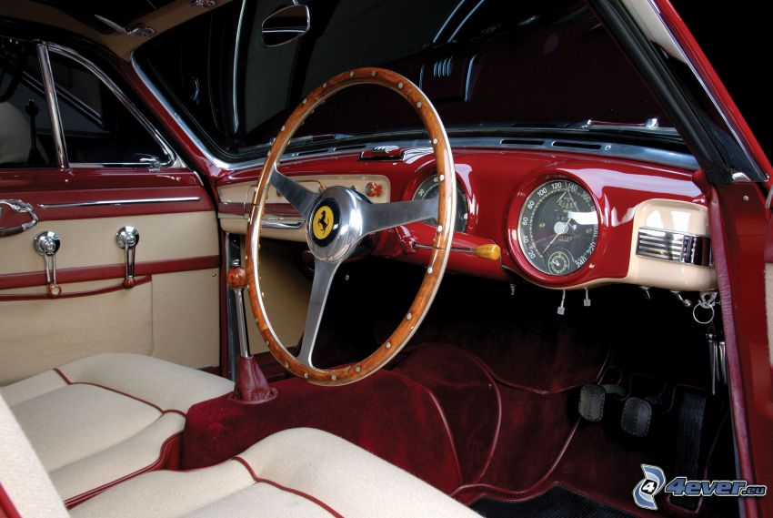 Ferrari, interior, steering wheel