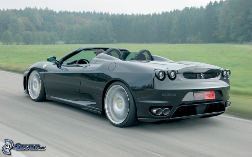 Ferrari F430 Spider, convertible, sports car, speed