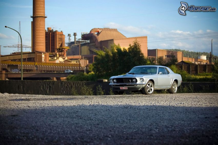 Ford Mustang, oldtimer, factory