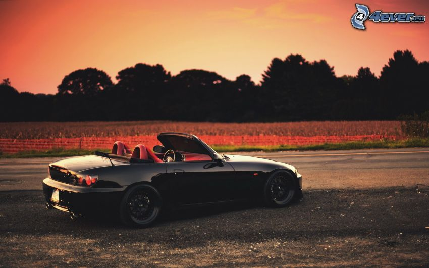 Honda S2000, convertible, after sunset
