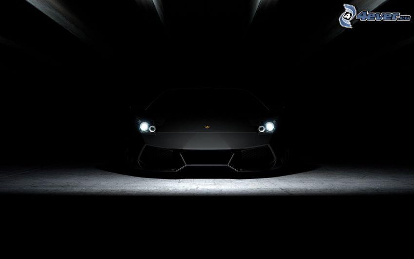 Lamborghini Aventador, reflector, front grille