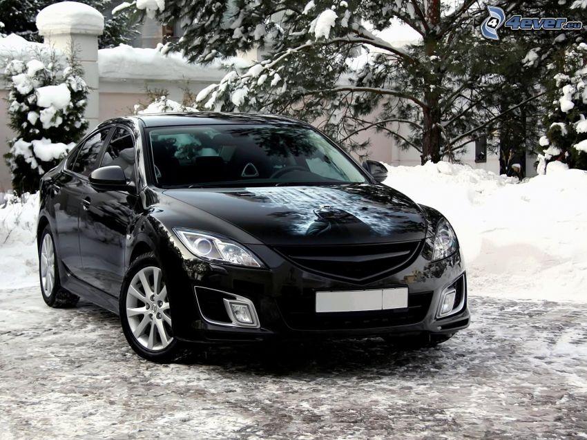 Mazda 6, snow