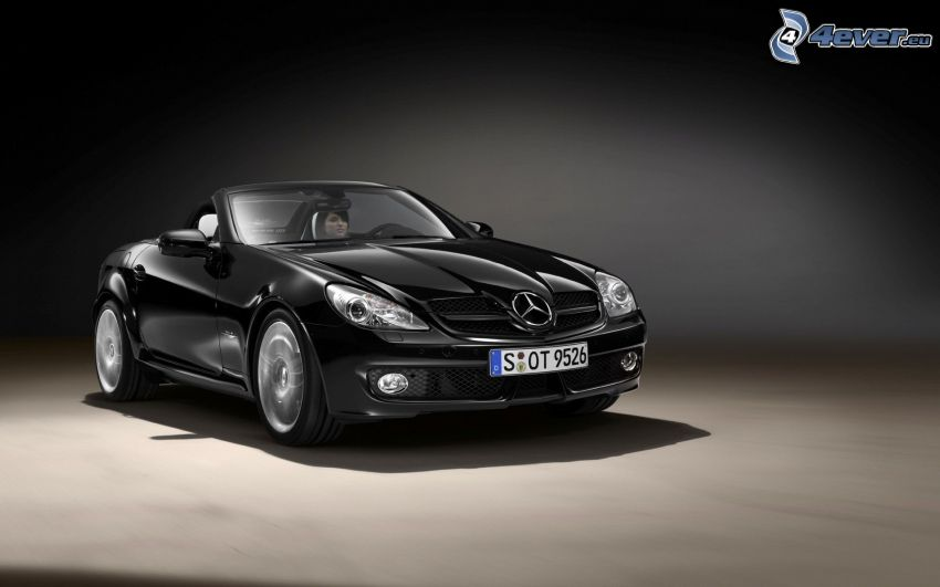 Mercedes-Benz SLK, convertible, woman