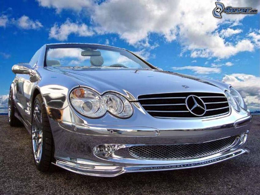 Mercedes SL600, convertible, chrome