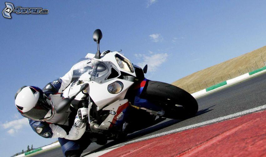 BMW 1000RR, moto-biker, racing circuit