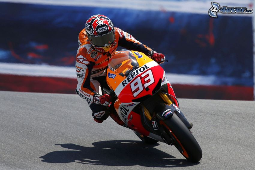 Honda, moto-biker, race
