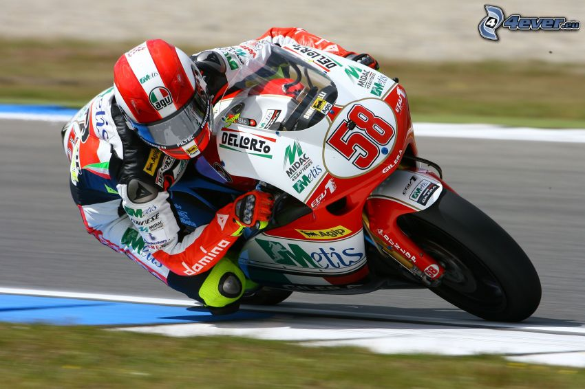 motocycle, moto-biker, speed, racing circuit