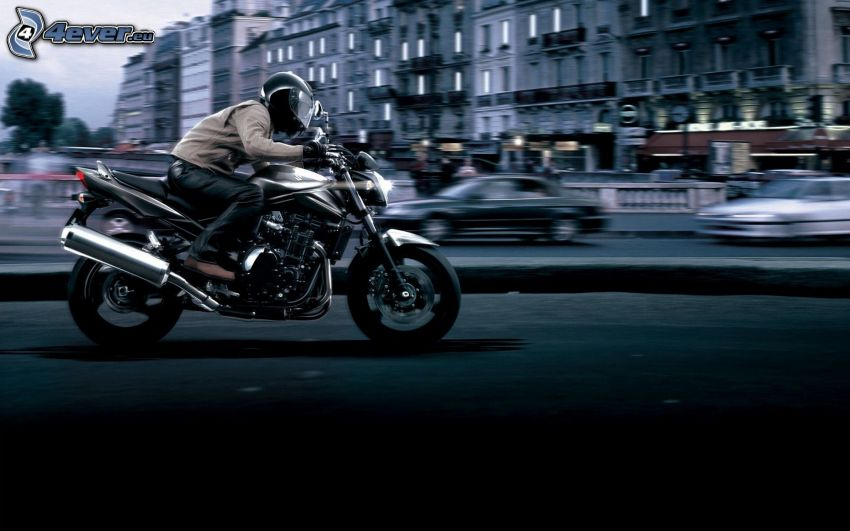 Suzuki Bandit, moto-biker, speed