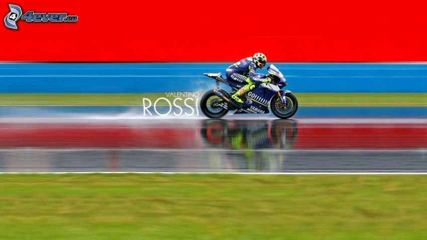 Valentino Rossi, Yamaha, motocycle, speed