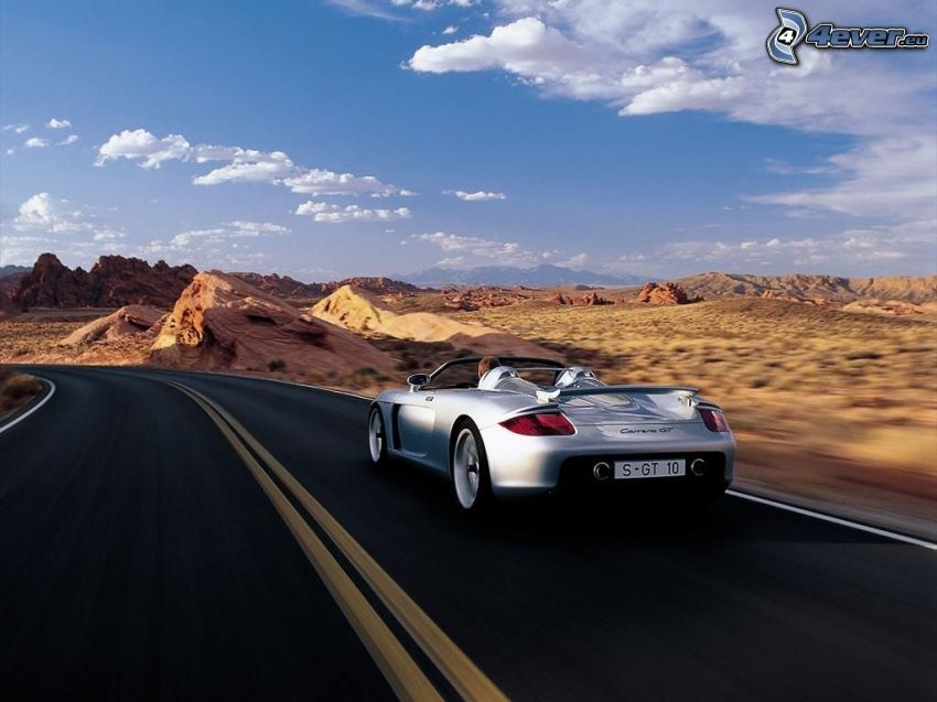 Porsche Carrera GT, landscape
