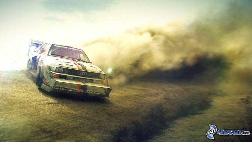 Audi Quattro, drifting
