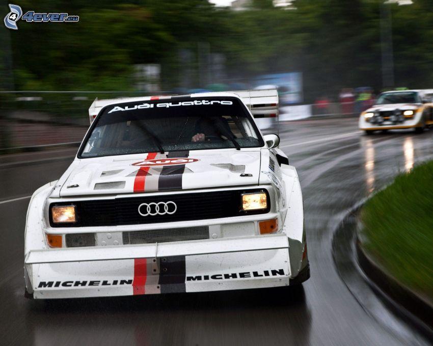 Audi Quattro, oldtimer, speed