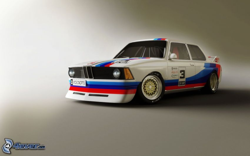 BMW E21, oldtimer, racing car