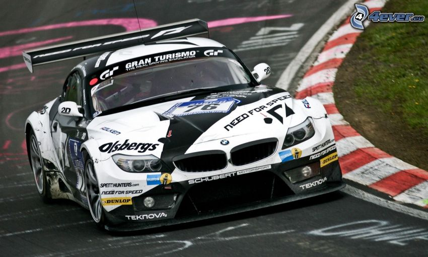 BMW Z4 GTR, racing circuit
