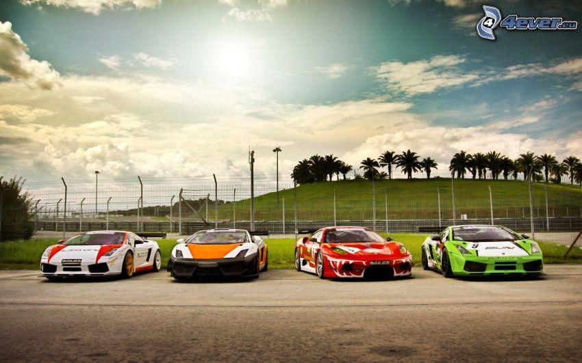 Ferrari, Lamborghini Gallardo, racing car