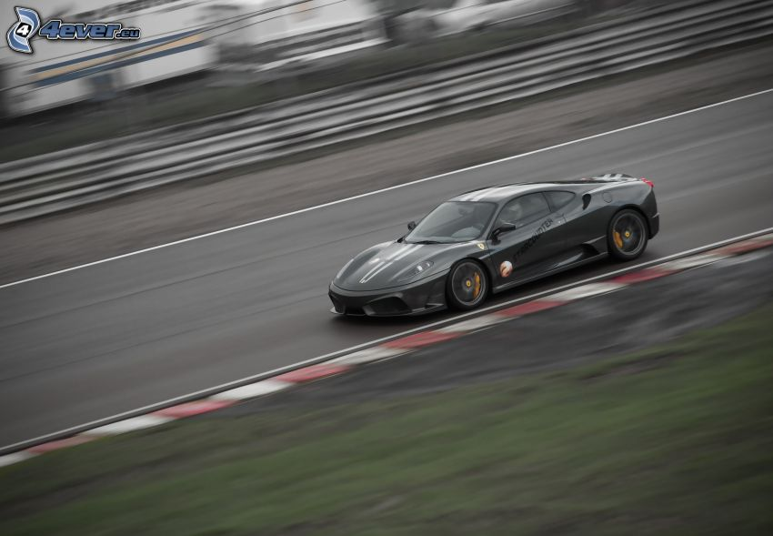 Ferrari F430, speed, racing circuit