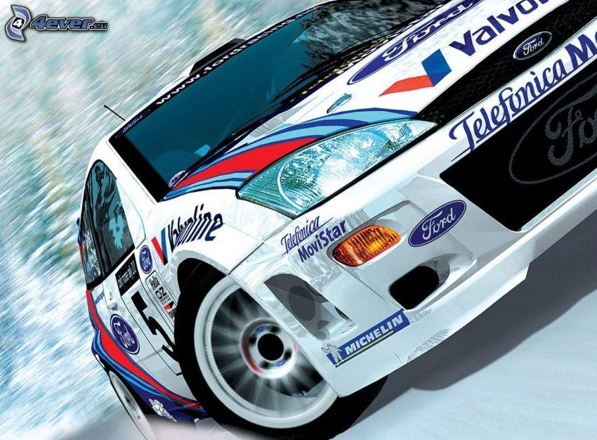 Ford Fiesta RS, racing car