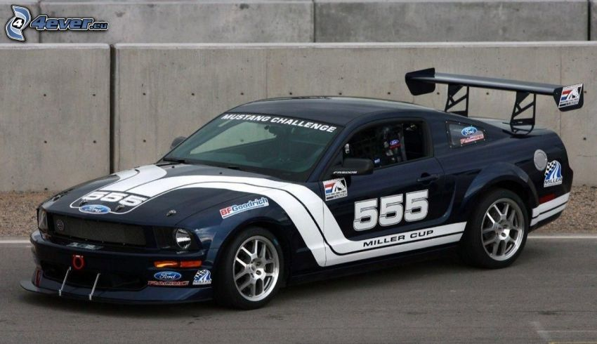 Ford Mustang, racing car