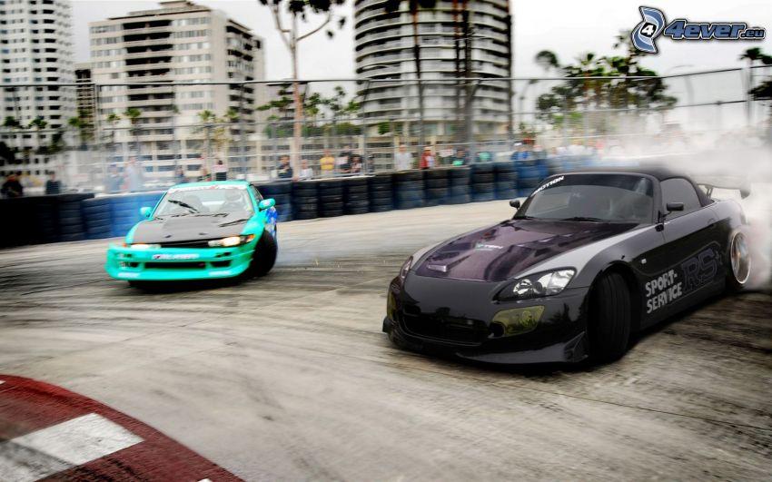 Honda S2000, Nissan Silvia, drifting, racing circuit