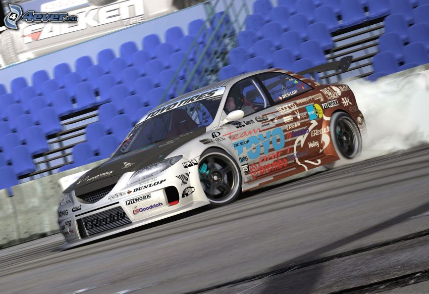 Mazda 6, racing car, drifting