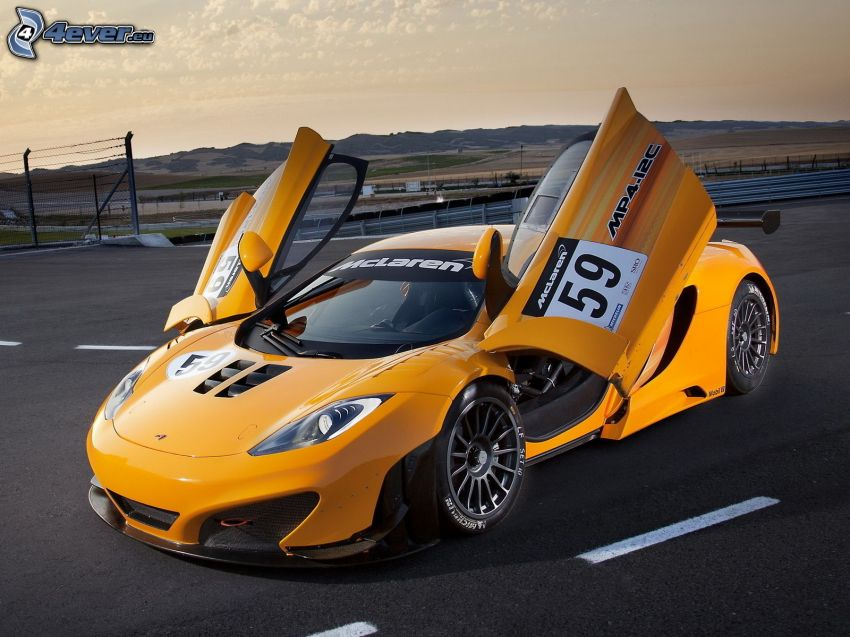 McLaren MP4-12C, racing car, door