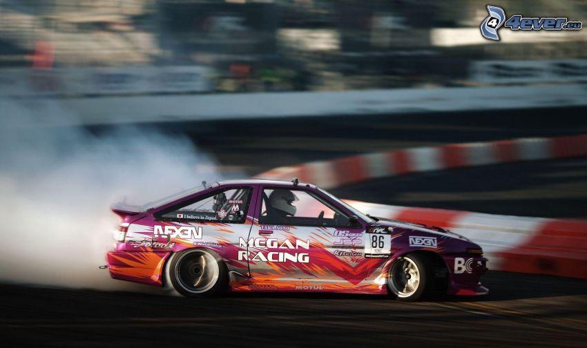 Nissan Silvia, drifting, smoke