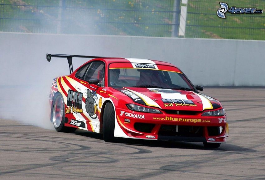 Nissan Silvia, racing car, drifting