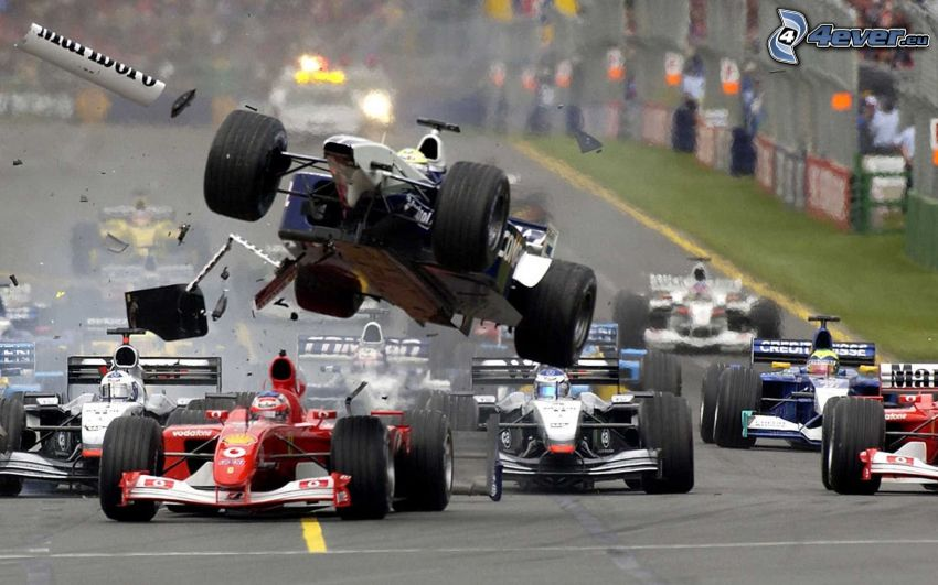 race, Formula One, accident