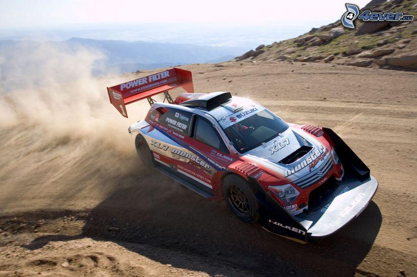 race, rally, drifting