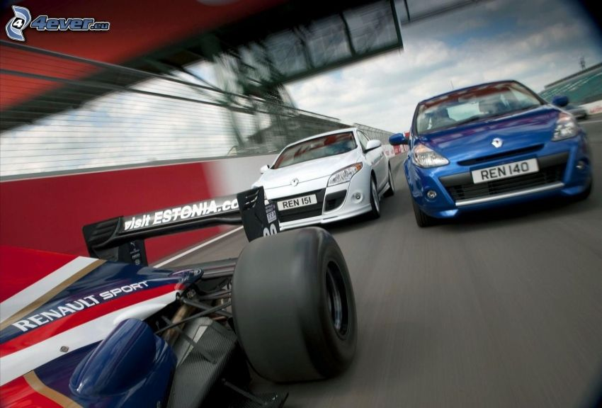 race, Renault, formula, speed