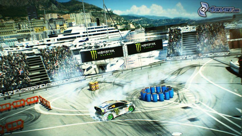 racing car, drifting