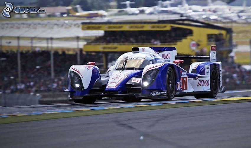 racing car, racing circuit