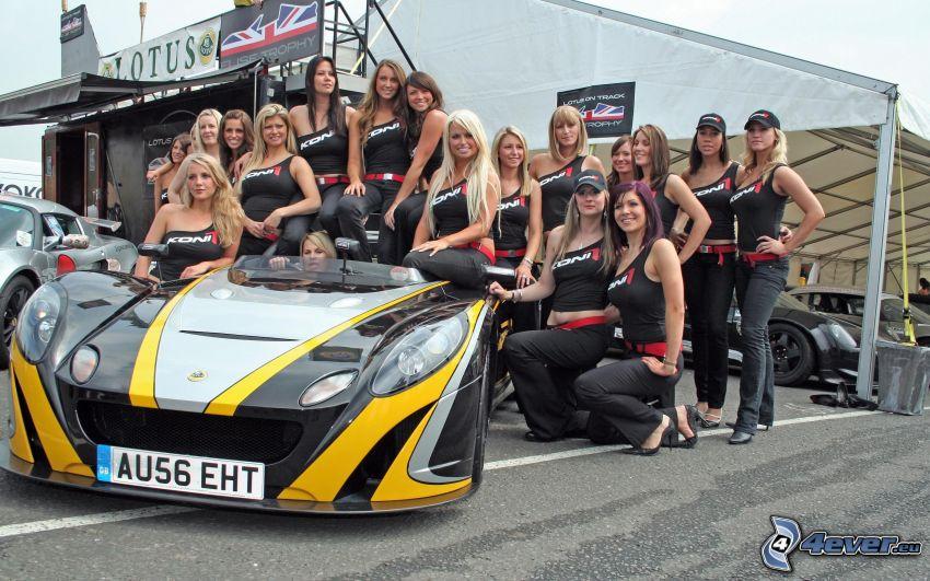racing car, women