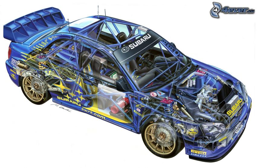 Subaru Impreza WRC, construction