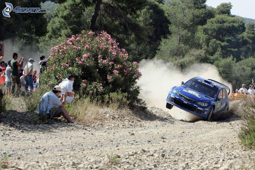 Subaru Impreza WRC, drifting, race