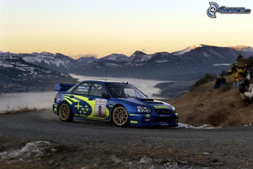 Subaru Impreza WRX, mountains