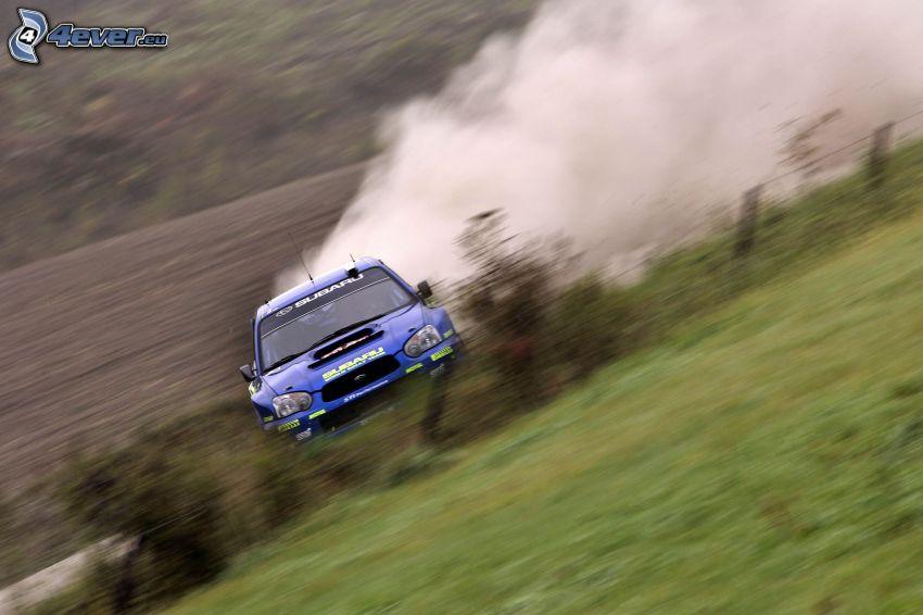 Subaru Impreza WRX STi, drifting, dust, rally