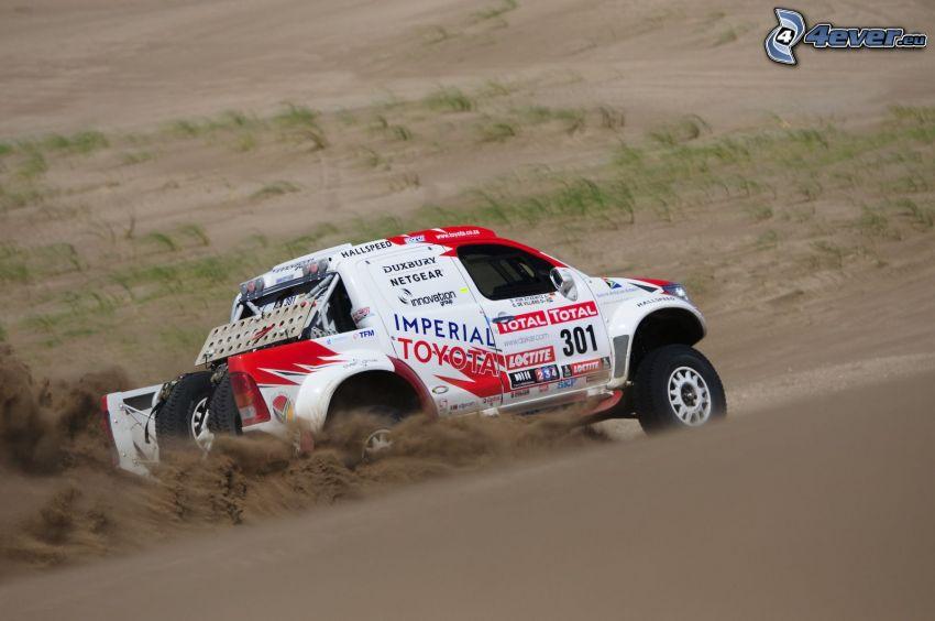 Toyota, Dakar, dust