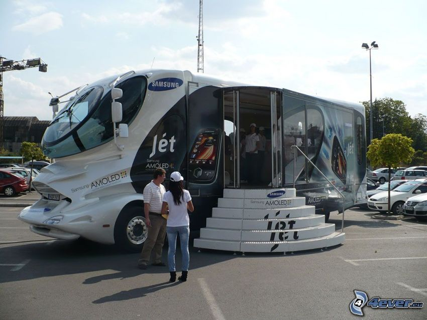 Samsung Amoled, advertising, bus