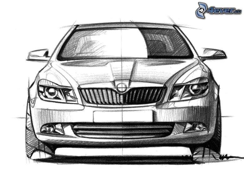 Škoda Octavia, concept, cartoon car
