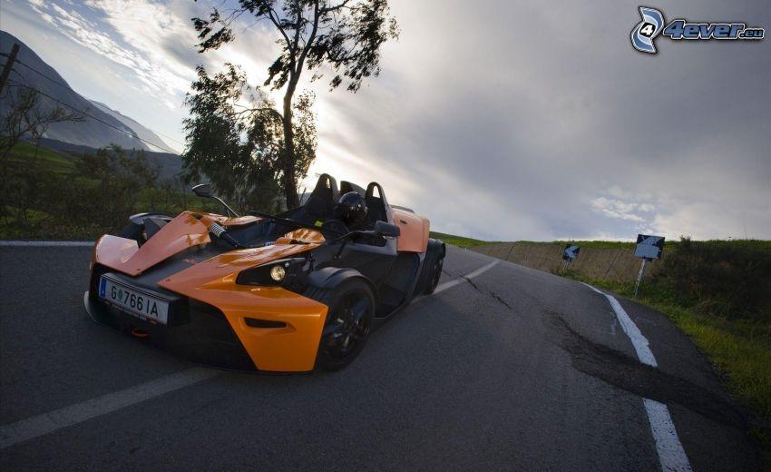 sports car, road