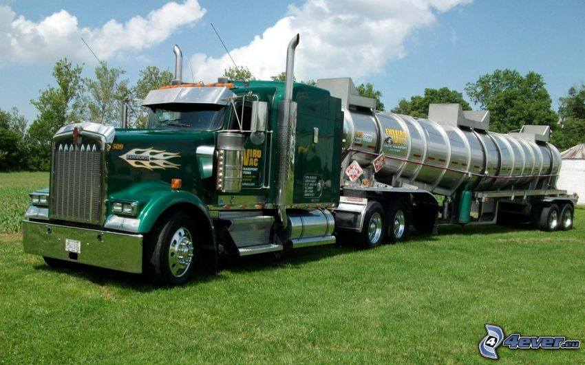 american camion, tank truck