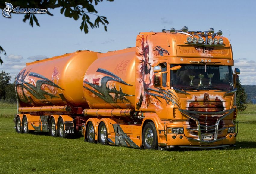 truck, tank truck