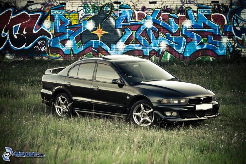 Mitsubishi Galant, tuning, graffiti