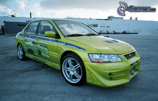 Mitsubishi Lancer Evolution, car, tuning, The Fast and the Furious