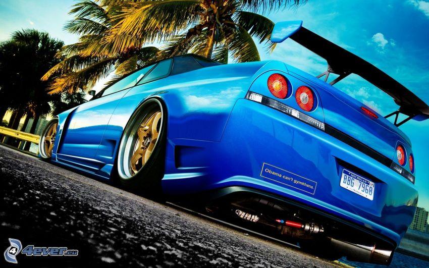 Nissan Skyline GT-R, sports car, taillight
