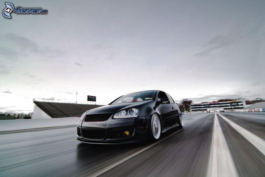 Volkswagen Golf, speed, lowrider
